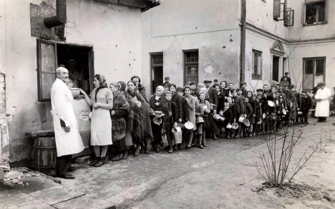 H. G. Wells en el gueto de Varsovia
